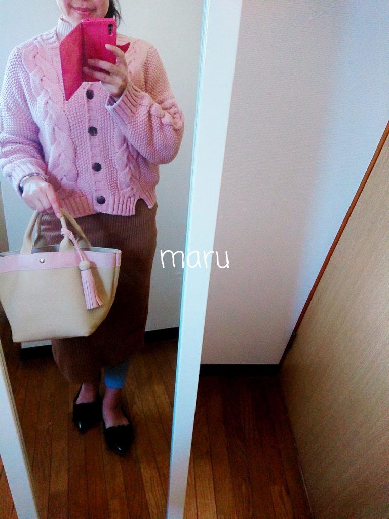 GU,ぽっちゃり,ニットスカート,がっちり体型